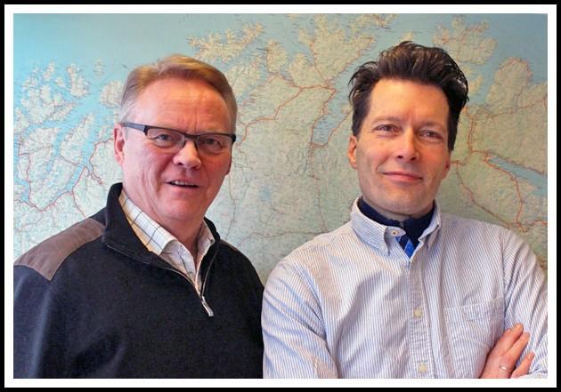 T.v. Arnulf Andersen, daglig leder, og t.h. Øyvind Wold, venneformidler extraordinaire.